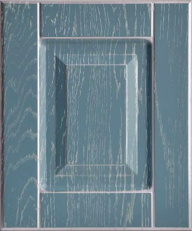 Дуб фактура глубокий синий Серебро