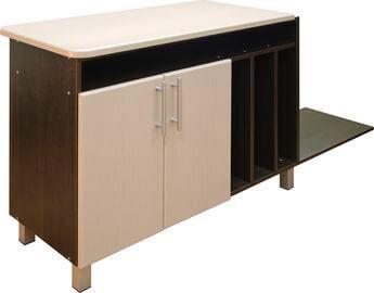 Приставка к столу руководителя с 2 дверками-1