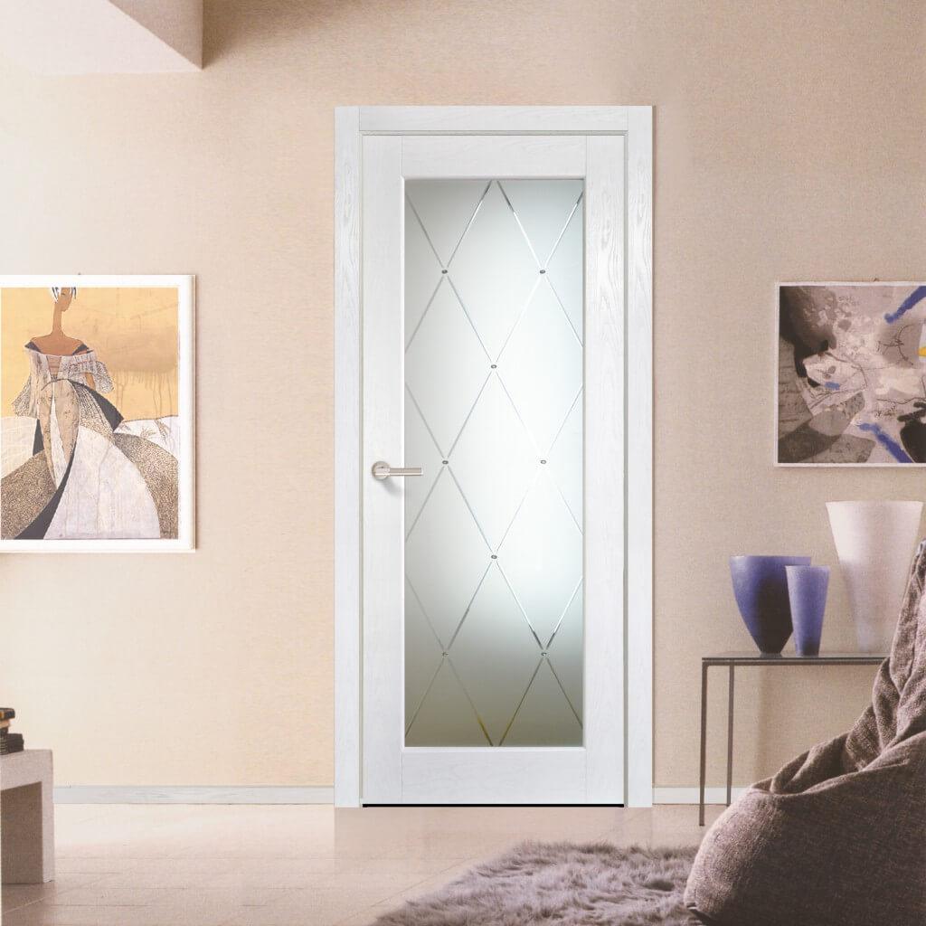 белые двери модерн в интерьере квартиры