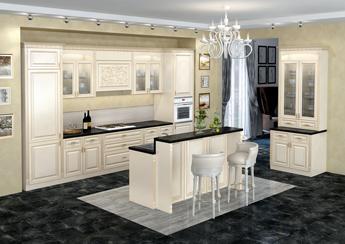 Кухонный гарнитур Лилия-эмаль